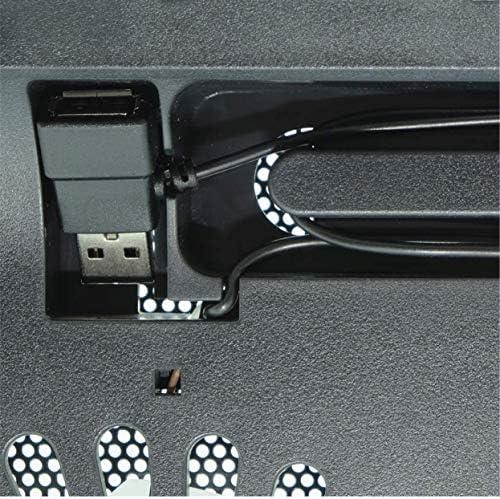 Soporte para port/átiles de 10 a 17 LEMEC Iluminaci/ón LED Color Azul Conexi/ón USB Base de refrigeraci/ón para PC Port/átil 2 Ventiladores 3000 RPM 36,2 x 28 cm.