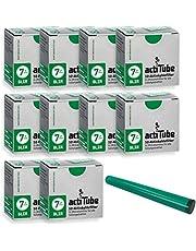 actiTube Slim 7mm actieve koolfilter 10 x 50er doos Filter Plus gratis jointhulle, zilver, 10x50 (500)