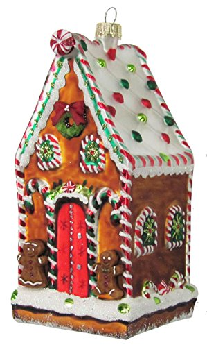 Christmas By Krebs Tasty Decorated Gingerbread House Glass Holiday ()