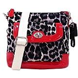 Coach 49441 Park Ocelot Leopard Print Swingpack Cross-body Handbag