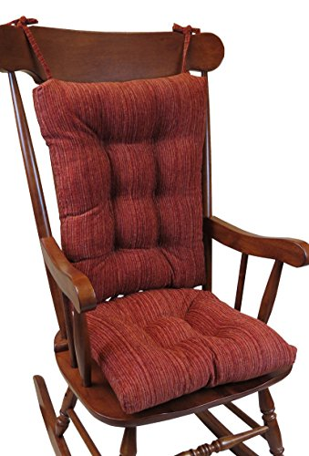 Chair Pads Rocking Chairs (The Gripper Non-Slip Polar Jumbo Rocking Chair Cushions, Garnet)