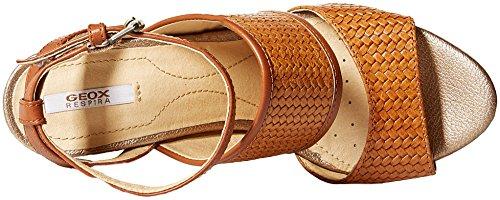 Geox Women's Mauvelle 6 Heeled Sandal, Caramel, 36 M EU (6 US) by Geox (Image #7)