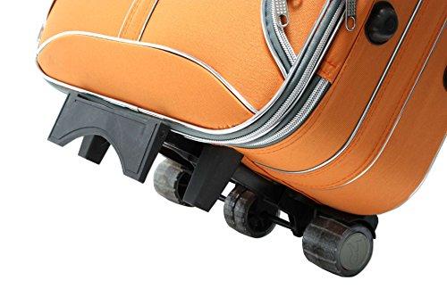 3 teilig Koffer Set orange Trolly Polyester Reisekoffer Trol