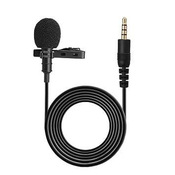Docooler 3.5mm Mini Collar Micrófono 1.5m Cables Clip Micrófono de ...