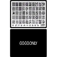 Gogoonly Nail Art Stamp Plate St. Merry - Tamaño enorme Estampado de imagen Placas Manicura Diseños de uñas DIY-BH000462