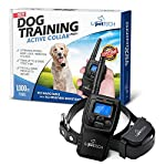 PetTech Remote Controlled Dog Training Collar, Rechargeable and All-Weather Resistant, All Size Dogs (10Lbs - 100Lbs), 1000ft Range from PetTech