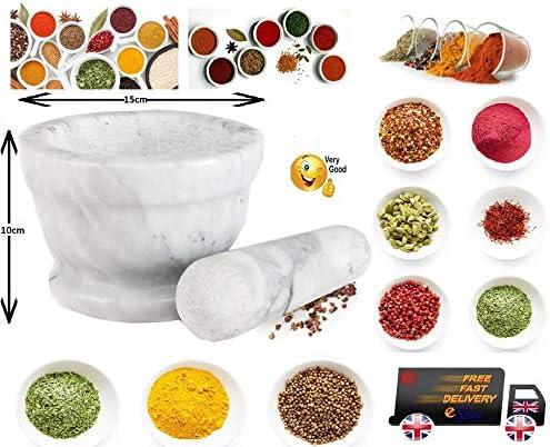 Natural Marble Granite Pestle and Mortar Spice Herb Seed Salt Pepper Crusher Grinder Grinding Paste Stoneware Solid Kitchenware Kitchen Home Black Grey Speckled Utensil Professional