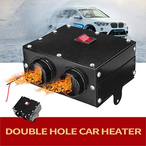 Car Vehicle Fan-Vovomay Heater Defroster Demister Hot Heating Warmer Windscreen 400W 12V (Black)
