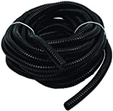 Wire Loom Black 100' Feet 3/8' Split Tubing Hose Cover Auto Home Marine