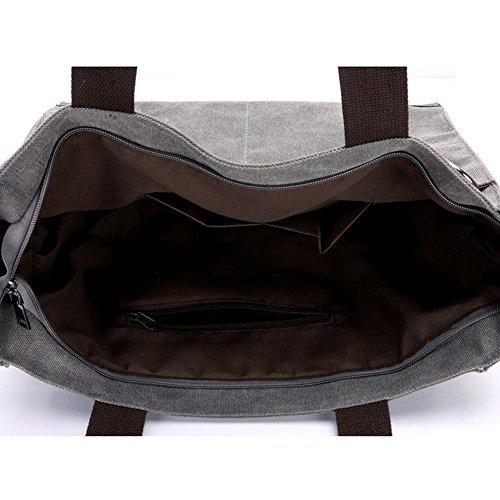 rosso Bag Borse De Messenger Borsa A Capacità Viaggio Nclon Semplice Grande Bag Progettazione Shoulder Tracolla Rosso Tela Spalla Donna OqnxTOAHCw