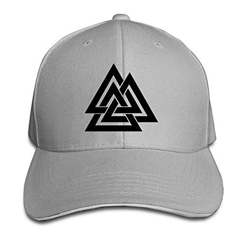 Runy Custom Valknut Logo Adjustable Sandwich Hunting Peak Hat & Cap - Burch Tory Symbol
