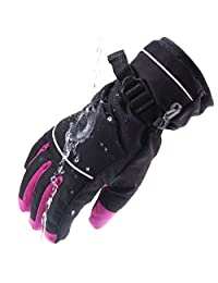 Wantdo Women's Waterproof Ski Gloves Winter Outdoor Fleece Lining Insulation Gloves