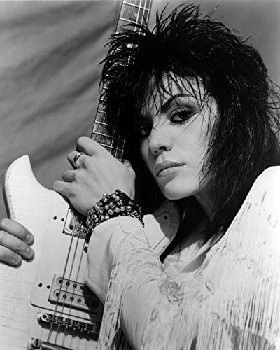Erthstore Joan Jett Cool Punk Rock Image with Guitar 8x10 Photograph