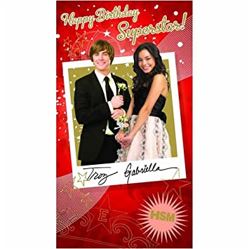 High School Musical Birthday Card Happy Birthday Superstar Card