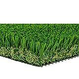 MTBRO 3'x5' Grass Rug, Realistic Artificial Turf Indoor/Outdoor Dog Mat, Blade Height 1.5