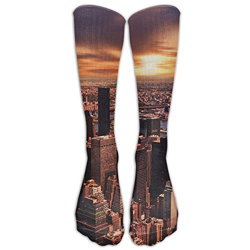 Long Socks New York City Sunset Breathable Compression Football Socks Over-The-Calf Tube