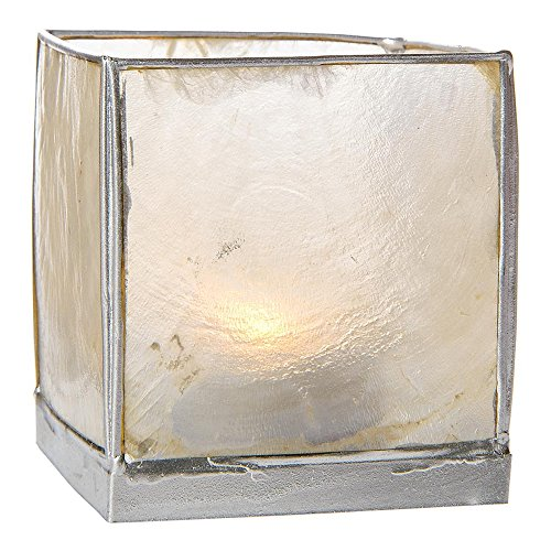 Bazaar Silver Square Candle Holder