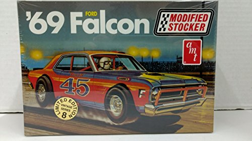 AMT 30142 1969 Ford Falcon Modified Stocker 1:25 Scale Plastic Model Kit - Requires Assembly