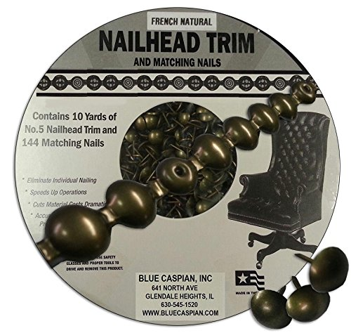 B.C. Upholstery Nailhead Trim with Matching Nails - French Natural - 30 ft (10 yds) ()