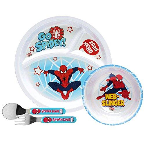 (Disney Toddler Dishes Dinnerware (Spiderman Dinnerware Set))