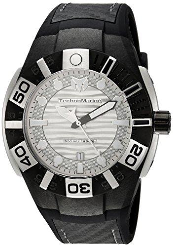 (Technomarine Men's Reef Stainless Steel Quartz Watch with Silicone Strap, Black, 26 (Model: TM-515026))