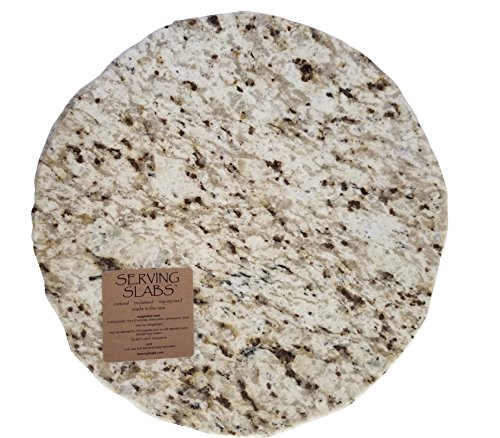 Handmade Reclaimed Granite Lazy Susan with Rough Chiseled Edge, 16
