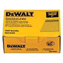 DEWALT DCA16200 2-Inch by 16 Gauge 20-Degree Finish Nail, 2,500 per Box