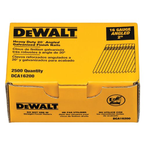 Cordless Nailer Box (DEWALT DCA16200 2-Inch by 16 Gauge 20-Degree Finish Nail (2,500 per Box))