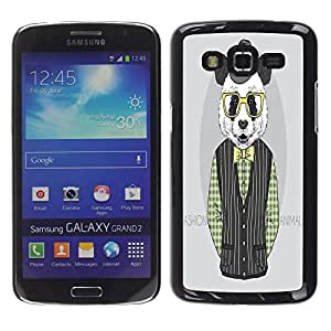 Dragon Case - FOR Samsung Galaxy Grand 2 - ?change your smile - Caja protectora de pl??stico duro de la cubierta Dise?¡Ào Slim Fit