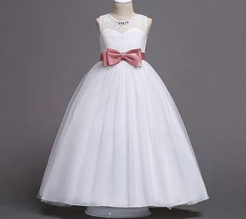 Vestidos de niñas Vestidos de niñas Vestidos de fiesta Vestidos de fiesta de cumpleaños Blanco Rosa