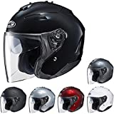 HJC IS-33 II Open-Face Motorcycle Helmet (Matte Black, Small)