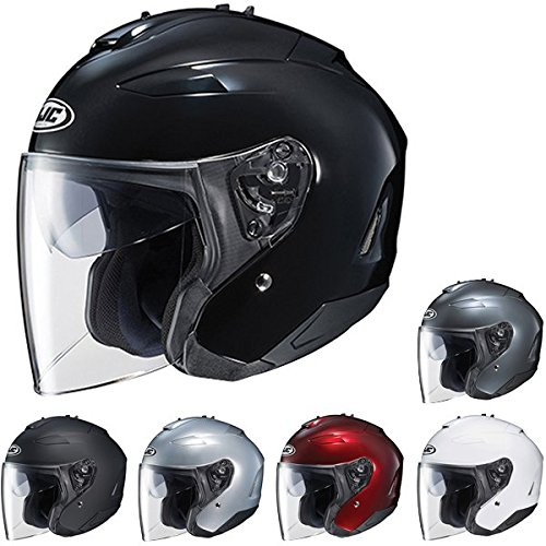 HJC IS-33 II Open-Face Motorcycle Helmet (Wine, Medium)