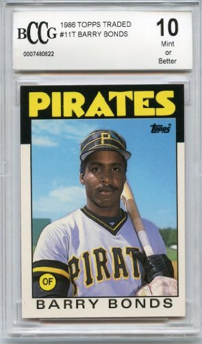 1986 Bonds Barry Traded Topps - 1986 Topps Traded #11T Barry Bonds Rookie Beckett BGS BCCG 10