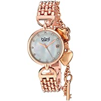Burgi Women's Quartz Stainless Steel Casual Watch, Color Rose Gold-Toned (Model: BUR172RG)