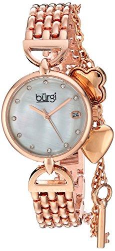 Burgi Women's Quartz Stainless Steel Casual Watch, Color:Rose Gold-Toned (Model: BUR172RG)