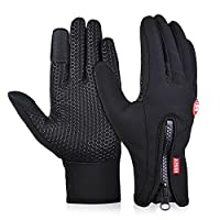 Vbiger Winter Cycling Gloves Outdoor Cold Weather Gloves Driving Texting Gloves for Men & Women