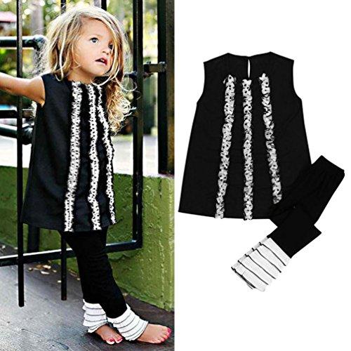 deeseetm-baby-kids-girls-long-t-shirt-dress-tops-ruffles-pant-legging-clothes-set-height110cm