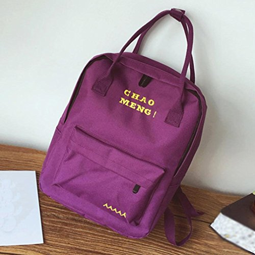 en Sacs School OverDose Sac Mode à Cartable Backpack Voyage Bag Tote Violet Scolaire Fille Femme Vintage Bag Toile Dos OtZAAq