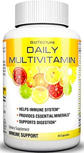 Capsules de multivitamines Daily - meilleure formule de complément alimentaire ! Aide le système immunitaire, fournit des minéraux essentiels, soutient la Digestion. Combinaison de vitamine numéro un ! Garantie de remboursement !