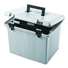 Pendaflex 41747 Portfile Portable File Box, Granite, 1 Each(41747)