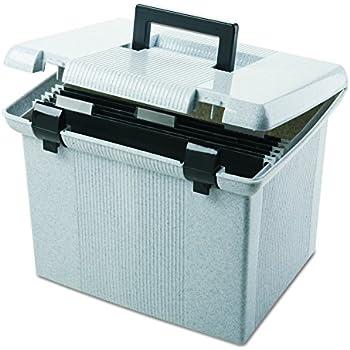 "Pendaflex Portable File Box, 11""H x 14"" W x 11 1/8"" D, Granite (41747)"
