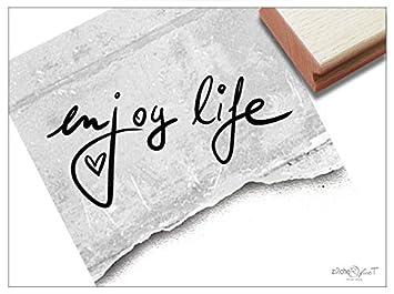 Stempel Textstempel Enjoy Life Handschrift Schriftstempel