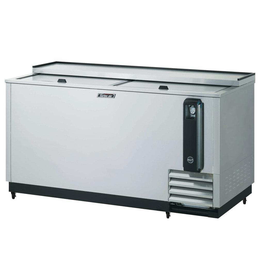 TBC65SD 18.5 cu. ft. Bottle Cooler with Forced Air Cooling System High Density PU Insulation PE Coated Dividers Efficient Refrigeration System and Stainless Steel Construction: Stainless Steel