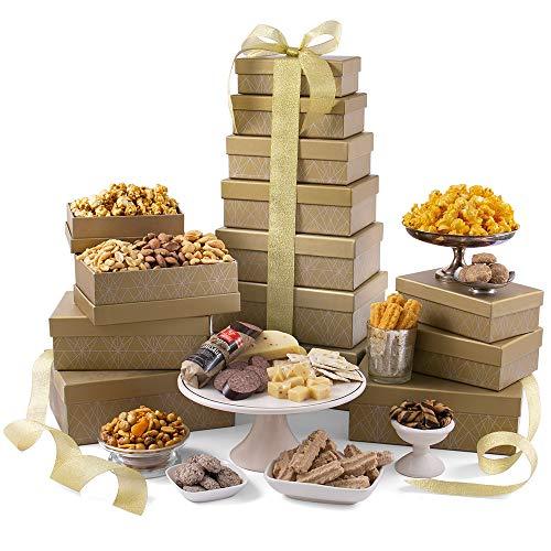 Grand Gourmet Gift Tower by GourmetGiftBaskets.com