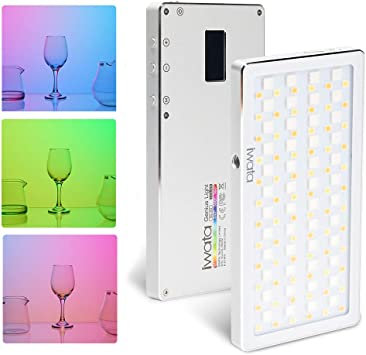 Iwata Tech GS-01 94 LED Fill Light CRI Super Natural Light 3000K-5500K Ultra-Thin Portable Phone Video Light Aluminum Dimmable Photography