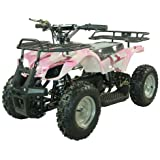Youth Electric Kids Quad Utility ATV for Children with Reverse - Pink Camo
