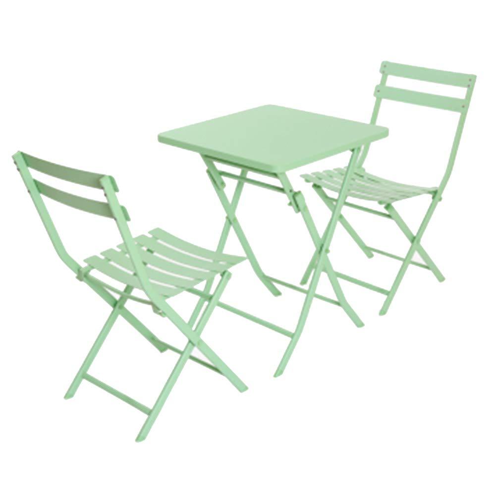 WSWJJXB Mesa y sillas Plegables al Aire Libre balcón Mesa de café ...