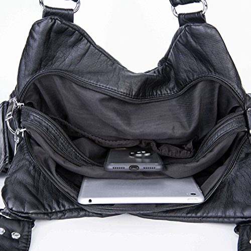 Bolso de las mujeres / bolso grande / totalizador - bolso de la clase / bolso de Crossbody de la mujer / bolso de la ciudad / mochila a prueba de agua(Marrón) Negro1