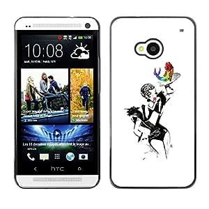 "For HTC One ( M7 ) Case , Burlesque Mostrar Mujer Pintura Sexy Arte"" - Diseño Patrón Teléfono Caso Cubierta Case Bumper Duro Protección Case Cover Funda"