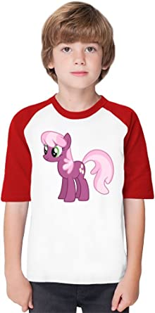Cheerilee Vector My Little Pony Soft Material Baseball Kids T Shirt